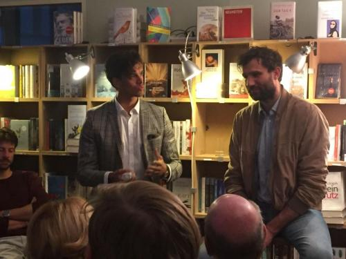Hoasting a reading with the writer Takis Würger